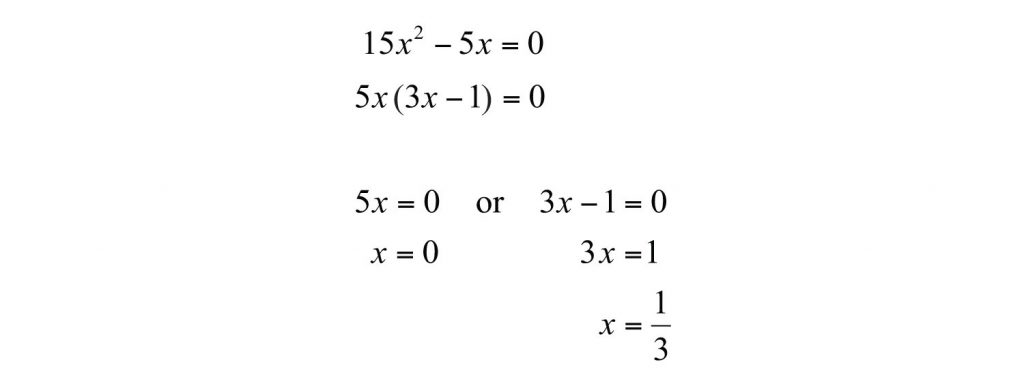 how to factor a quadratic equation without c